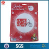 printed santa claus jumbo holiday bike present bag for christmas