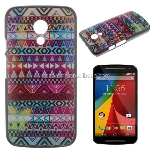 Tribal case back cover for Moto G2, tiger case for Moto G2, plastic case back cover for Moto G2