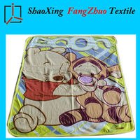 cute animal cheap and soft flat screen printed fleece blanket