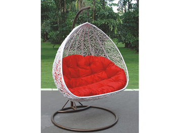 Outdoor White Rattan Hanging Egg Chair Hot Garden Wicker Whole