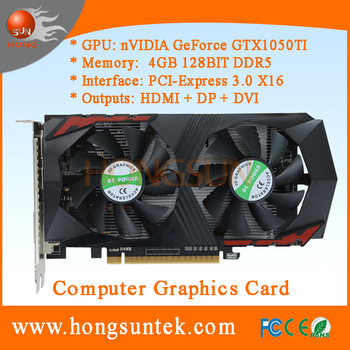 OEM NVIDIA GeForce GTX 1050TI 4GB GDDR5 PCI Express 3.0 Gaming Video Graphics Card