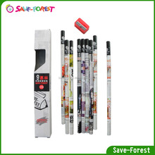 High end transfer technology paper pencil with colorful for kids