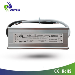 IP67 waterproof constant current led driver 60w 600ma 100vdc power supply for led street light