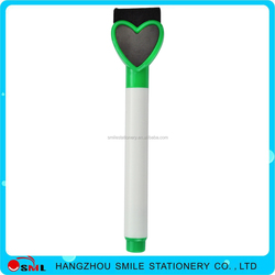 new heart-shaped promotional memo fridge magnet Erasable whiteboard