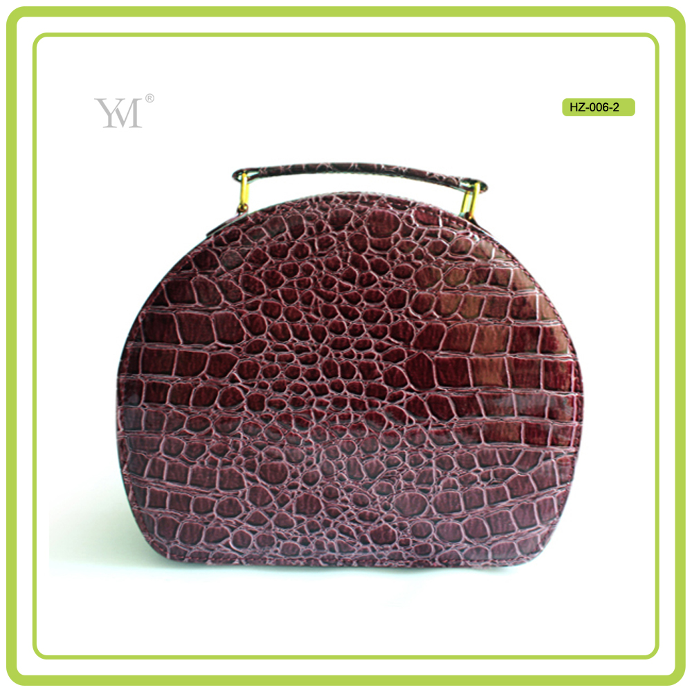 new products 2016 fashionable jewelry hot selling durable luxury cheap promotional women pvc leather cosmetic case make up case