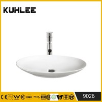 Above counter art basin Oval home washing Fancy Bathroom Sinks KL9026-9030