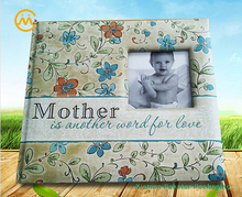 Elaborate printed photo album memory baby books with window on cover