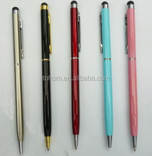 Cheap promotional metal ball pen,colorful metal pen with beautiful logo
