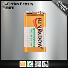 Professional manufacturer durable 9v dry alkaline battery 6lr61
