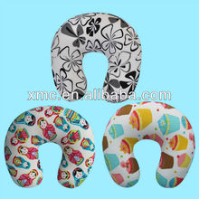 sublimated micro beads child travel neck pillow