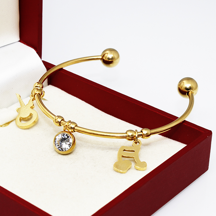 The 2016 Women's Latest Music <strong>18</strong> <strong>k</strong> Gold Bracelet Creative Christmas Gifts