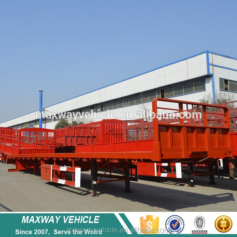Tri-axle enclosed trailer used to delive animals or cargo parts