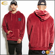Ecoach hoodie manufacturers long sleeve kangaroo pocke 100%cotton blank wholesale velvet velour hoodie for men