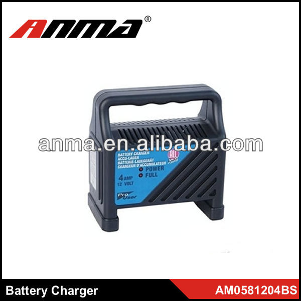 High quality portable 4-6AMP car battery charger n100 12v 100ah dry charged auto car battery
