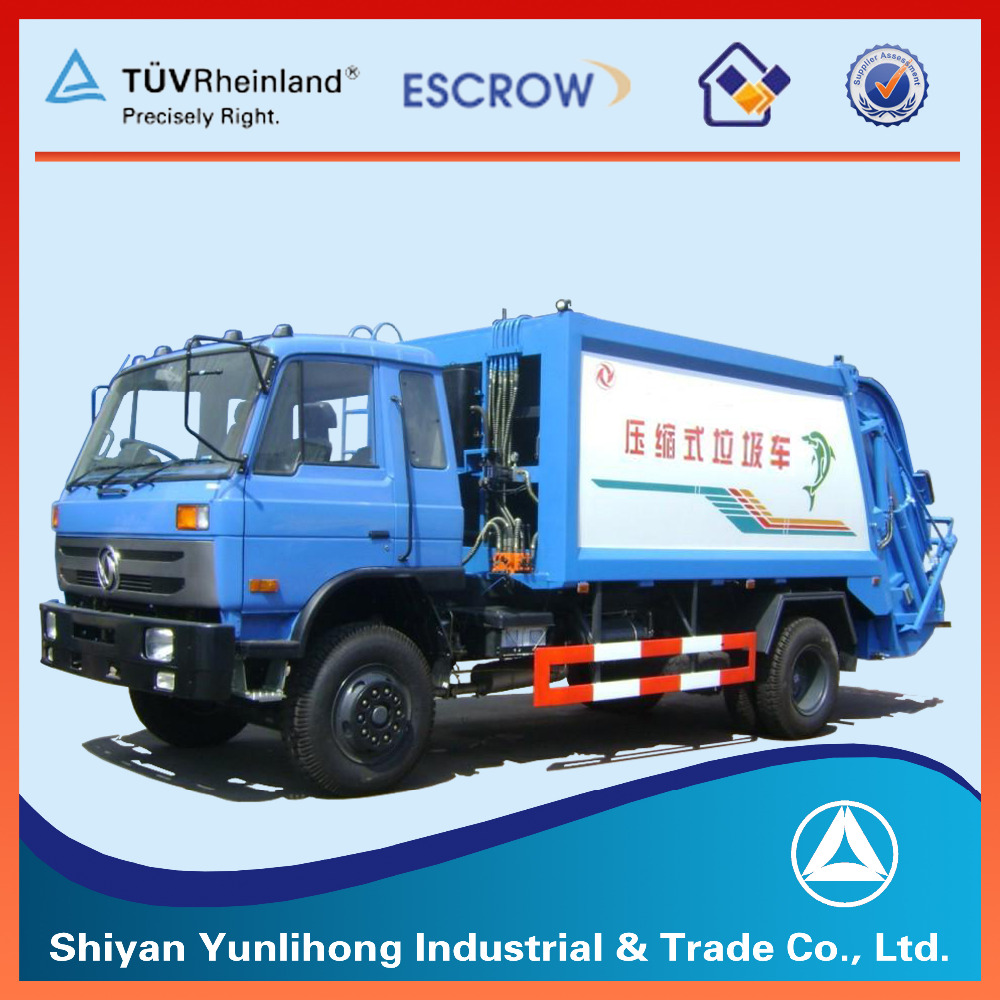 15m3 garbage compactor truck / waste compactor container truck