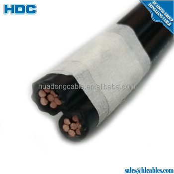 pvc insulated single core 6mm2 copper core conductor aerial service drop cable