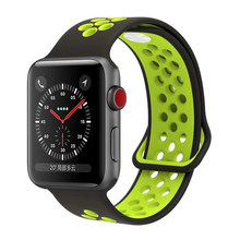 Sport Double Color Soft Rubber Silicone Band for Apple Watch 42mm