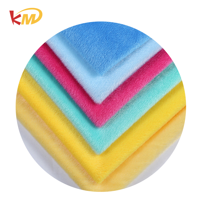 Sale cheap various colors polyester super soft plush fabric for toys,garment,baby products,clothing,caps,home textile