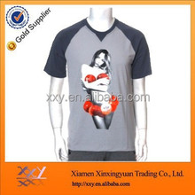 Temperature sensitive color changing t-shirt for men