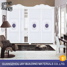 Guangzhou factory direct sale high quality bedroom furniture wooden clothes wardrobe