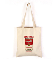 2015 fashion calico shoulder shopper eco organic canvas tote cotton bag