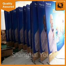 Custom durable tension fabric display supply folding fabric stands