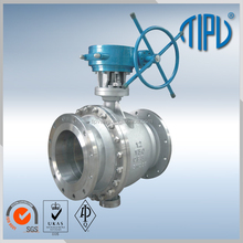 Worm Gear Trunnion Mounted Stainless Steel Flange Ball Valve