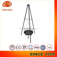 Camping BBQ Grill Campfire Support Tripod Stent Stand Holder Hooki adjust height hanging outdoor barbecue grills