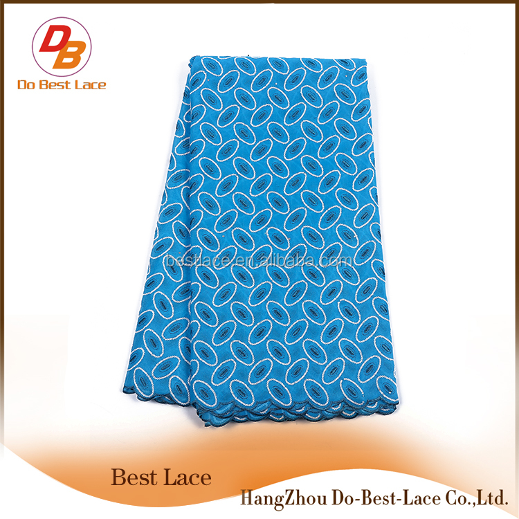 Chinese Products Wholesale 100% Cotton Mesh Fashion Unique Embroidered African Net Lace Fabrics