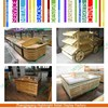 Fashionble Wooden fruits and vegetable display rack, fruit vegetable shelf