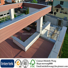 Eco-friendly Wood plastic WPC decking composite, wpc crack-resistant decking