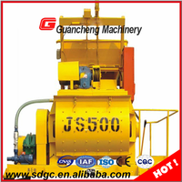 Electric motor concrete mixer harga concrete mixer JS500 high power concrete mixer