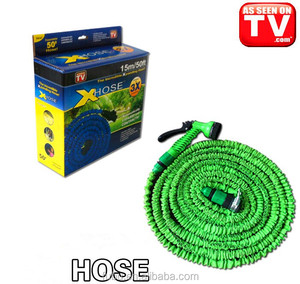 Flexible Expandable Garden Water Hose Reel Cart - 75ft New Design Prevent Corrosion Heavy Duty Expanding Hose with Nickel Plated