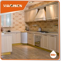 Vinyl Wrapped PVC Kitchen Cabinet Fom China Aisen Supplier