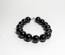 "Shungite Bracelet ""The Night"" Natural Stone Jewelry"