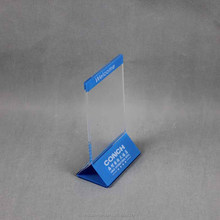 Acrylic Table Display Stand Menu Display Holder for hotel