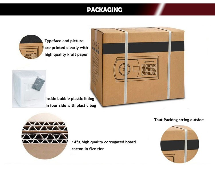 source hot sale steel money counting safe deposit safe box o