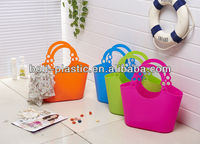 Promotion Gift Women's Popular Soft PE Beach Basket/Bags