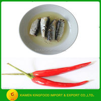 factory supplied Canned Sardine preservation in Vegetable spicy Oil 125g exporter