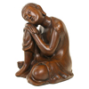 Resin Thai Buddha Meditating Peace Harmony Statue resting head on kneel