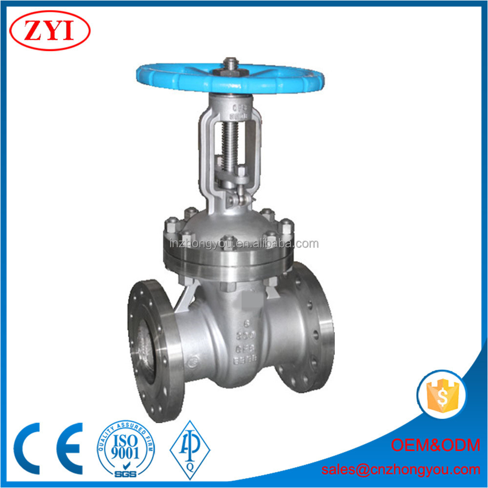 ASTM A351 CF8 stainless steel gate valve price