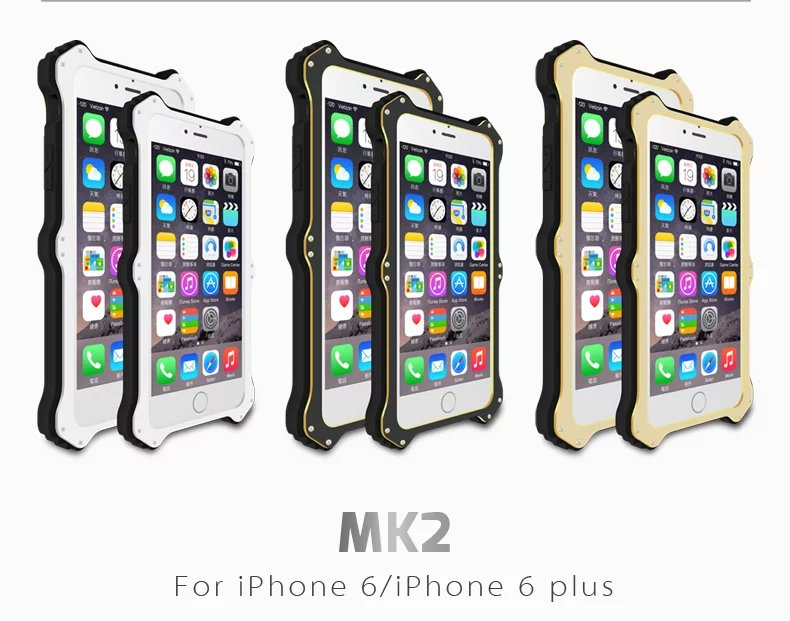 MK2 for iPhone 6 case,iphone 6 plus Case Wireless Charging Polymer Aluminum Waterproof Dirtproof Shockproof Snowproof Cover Case