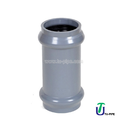 UPVC Two faucet couplings DIN PN10 (rubber ring)