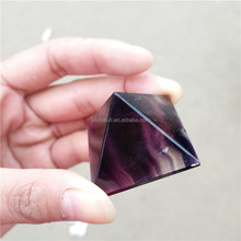 Wholesale natural quartz rainbow fluorite healing crystal pyramid for sale