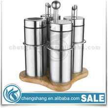 New Style Party Decorations 5pcs Stainless Steel Salt & Pepper Shaker Bottle