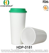 Bulk Plain White Plastic Coffee Mugs For Printing 16oz