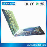 Hot selling lcd video brochure electronic card