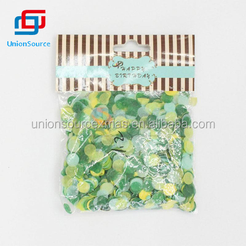 Popular for Sale Green Paper Fragment Party Decoration