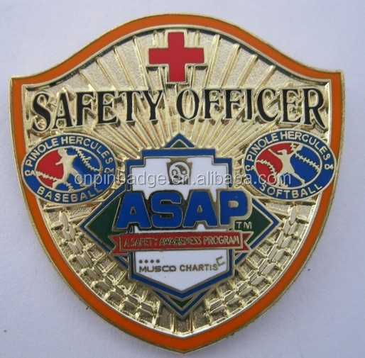Custom Amazing brass badges /Military safety badge