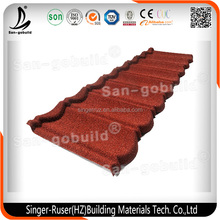 Ceramic Roof Tiles /SONCAP Colorful Stone Coated Metal Roofing Shingles